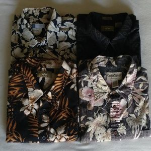 Other - 4 Black Various Print Men' Shirts